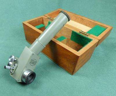 BECK, LONDON - Vintage MICROSCOPE EYEPIECE ATTACHMENT with POINTER - In Box