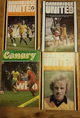 Cambridge United Programme Collection 81/82