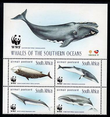 SOUTH AFRICA MNH 1998 Whales of the Southern Ocean Block of 4
