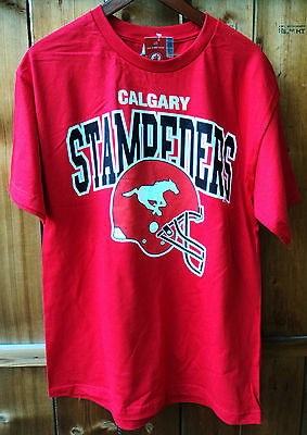 CALGARY STAMPEDERS CFL Football New Mens T-Shirt sz L Size Large Grey Cup