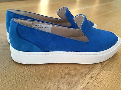 Fabulous Blue Clarks Slip On Leather Suede Pumps Size 6