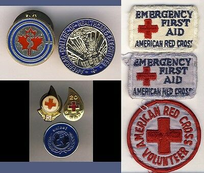 American College Healthcare American Red Cross Medical Pins Badges US Canada 8x