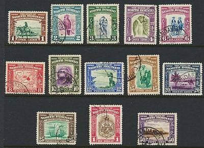 North Borneo 1939 Set To $1, Vf Used Sg#303-15 (See Below)
