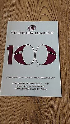 Leeds v Dewsbury 1997 Challenge Cup 5th round Rugby League Programme