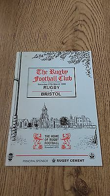Rugby v Bristol 1993 Rugby Union Programme