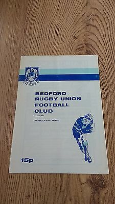 Bedford v Cambridge University 1981 Rugby Union Programme