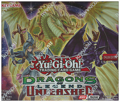 Yu-Gi-Oh! Dragons of Legend Unleashed English 1st. Edition Booster Box