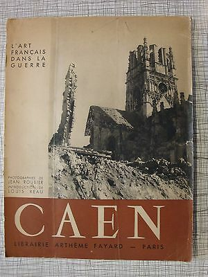 Caen: French Photo Album Of Destruction, D-Day Normandy, Cathedral, 1946 edition