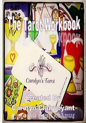 My Tarot Workbook by Carolyn Clairvoyant (English) Paperback Book Free Shipping!
