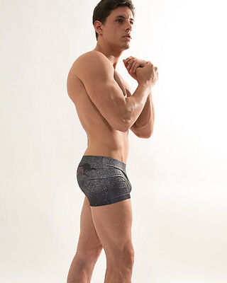CROOTA Mens Underwear, Seamless Low Rise Boxer Briefs, Open size S M, Quick Dry