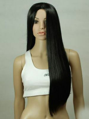 WJIA006 80cm new style long black straight  wigs for modern women hair wig