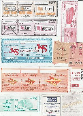 Chile.   20 Coaches paper tickets.