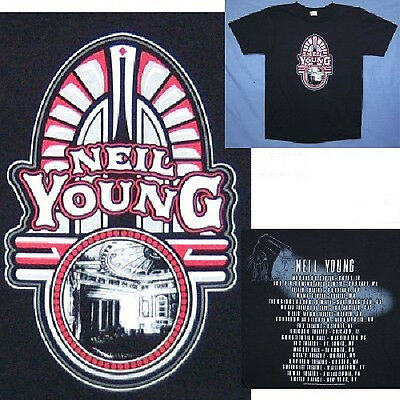 Neil Young! Theater American Tour Black T-Shirt Small New