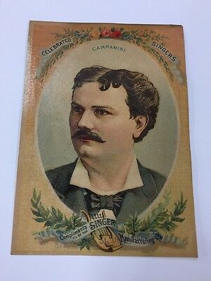 Orig. Antique Victorian Contest Trade Card 1800's Singer Sewing Machine Co.