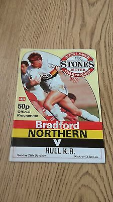 Bradford Northern v Hull KR Oct 1987 Rugby League Programme