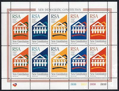 SOUTH AFRICA MNH 1996 New Constitution Sheetlet