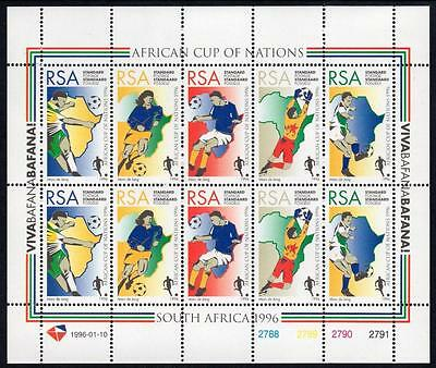 SOUTH AFRICA MNH 1996 African Cup of Nations Sheetlet