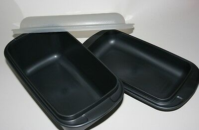 TUPPERWARE Ultra 21 Plus Pro Ovenworks Black Cosmos Meat Loaf Pan NEW