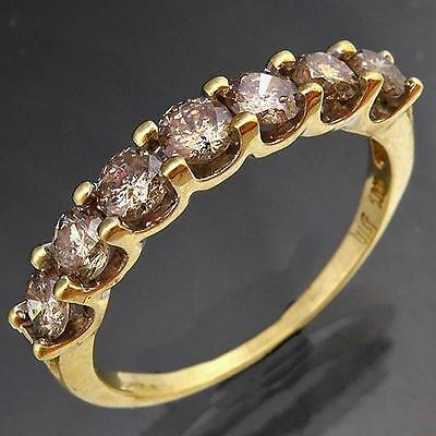Tinted1ct 7 Promotional Quality DIAMOND 10k Solid Yellow GOLD ETERNITY RING Sz P