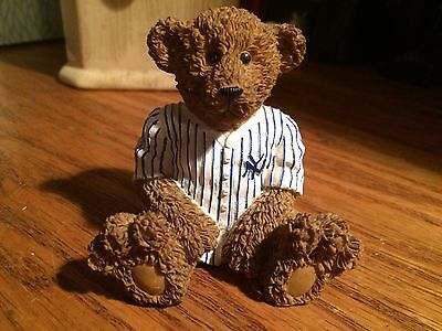 Collectible Ceramic NY Yankees Teddy Bear-excellent condition