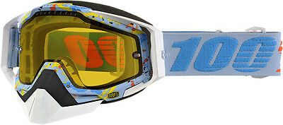100% Racecraft Snow Snowmobile Goggles Hyperloop Yellow