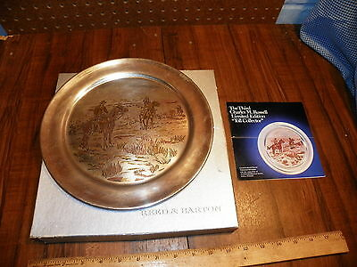 1974 REED & BARTON Damascene Silverplate Plate - Toll Collector, Charles Russell