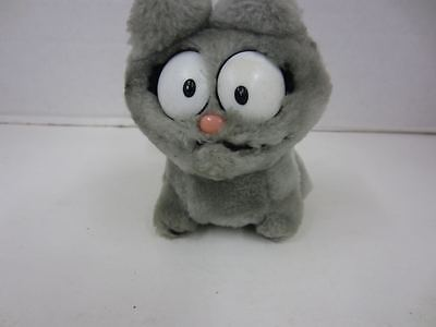 Vintage 1983 Dakin Garfield Enemy Nemesis NERMAL 5 1/2 Grey Plush Stuffed Animal
