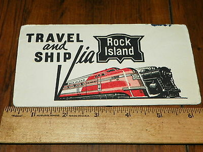 Vintage Ink Blotter Advertisement - ROCK ISLAND RAILROAD