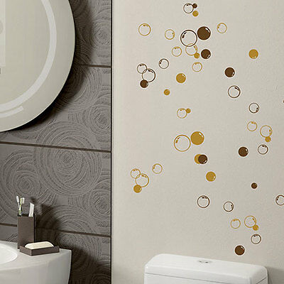 58 Bubbles Wall Bathroom Window Shower Tile Decorations Stickers Kids Decal 40-2