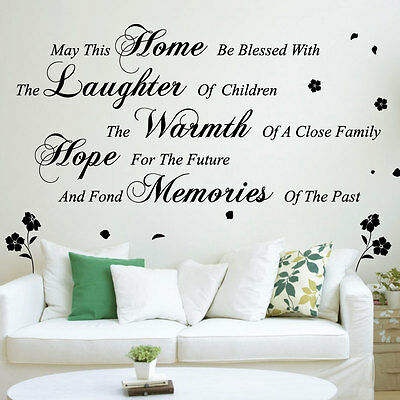 May This Home Wall Art Quotes / Wall Stickers Wall Decals Wall Mural-size 2 342