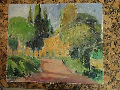 Original Abstract Post Impression Oil Painting Fidel Bofill 'El Brull' SIGNED