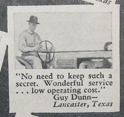 Original 1939 Texaco  Ad Photo Endorsed Guy Dunn of Lancaster Texas