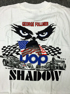 George Follmer Uop Shadow F1 /can Am T Shirts Size Large  Only 3 Left