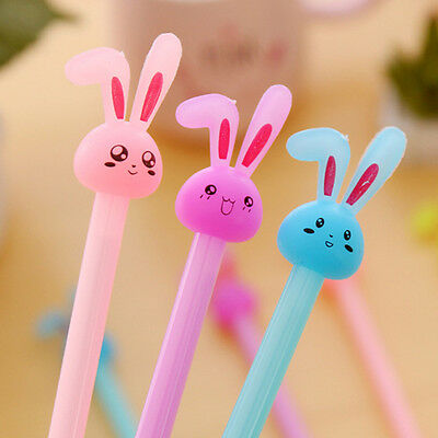 12 pcs Pack Rabbit Bunny Cute 0.38mm Gel-ink Writing Pen Black Ink Pen Pack