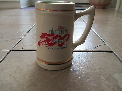 73nd Indianapolis 500 Race May 28 1989 Beige Gold Red Blue White Buck Mug Cup