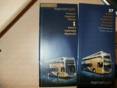 "Stagecoach Devon;2x Bus Timetables;""Gold"" services;Dated 01/05/2016;BRAND NEW"