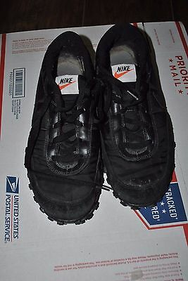 Nike Waffle Racer Casual Sneakers, #303918-007, Black, Mens US Size 11.5