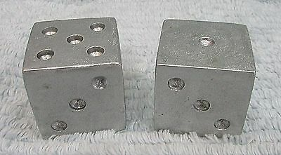 """One of a kind old prototype cast aluminum machined oversized 1-1/2"""" dice FREE SH"""