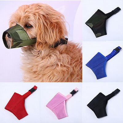 Hot Pet Dogs Adjustable Mask Bark Bite Mouth Muzzles Grooming Anti Stop Chewing