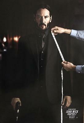 JOHN WICK CHAPTER 2 2017 Original Promo Mini Movie Poster Keanu Reeves Ruby Rose