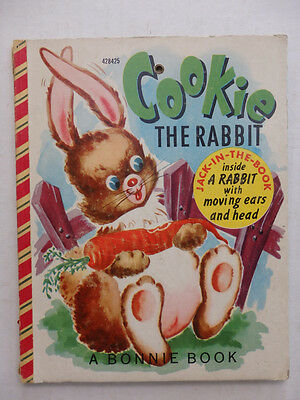Vintage Bonnie Jack-In-The-Book Cookie the Rabbit 1952 Very Cute