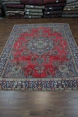 Gorgeous Handmade Floral Red Tabriz Persian Rug Oriental Area Carpet Sale 10X13