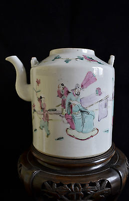 Antique Chinese 19th century Famille Rose porcelain Teapot