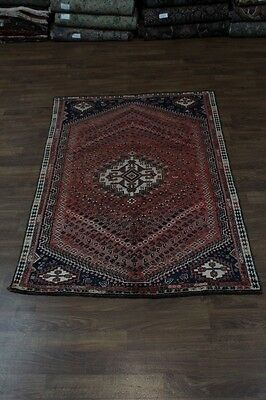 5X8 Genuine Hand Knotted Shiraz Wool Persian Rug Oriental Area Carpet 5'3X7'9