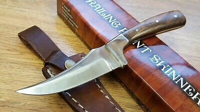 Traditional Trailing point Full Tang Skinning Fixed Blade Hunting Knife w Sheath