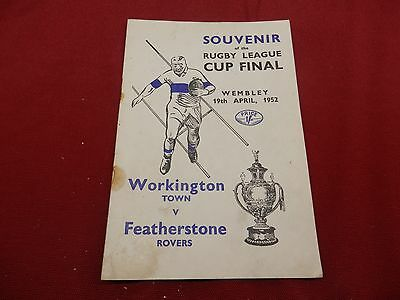 Workington Town V Featherstone Rovers 1952 Cup Final Programme