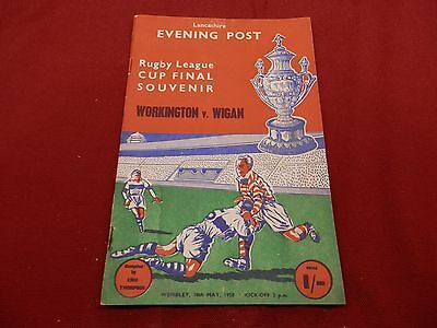 Workington Town V Wigan 1958 Cup Final Programme
