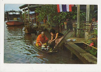 Food For The Priests Thailand Postcard 563a