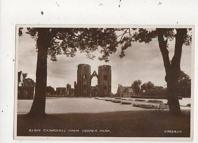 Elgin Cathedral From Cooper Park Vintage RP Postcard 797a