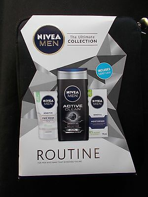 Nivea Men Routine 3-Piece with 10 Inch Tablet Case Gift Set